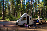150th Night in A-Liner, Metolius River, July 6