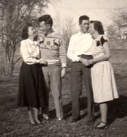 1945 Mom and Dad and friends