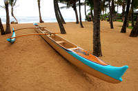 Outrigger canoe at Mama's Fish House