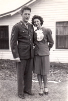 1945 Mom and Dad wedding day 2